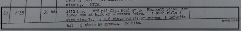 MRF shooting 6th May 1972