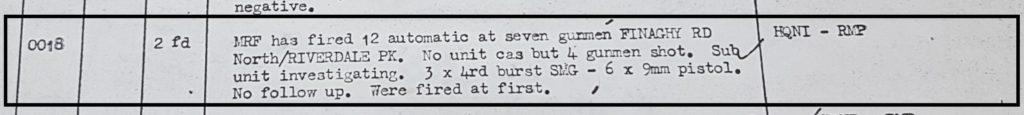 MRF shooting 13th May 1972 Riverdale