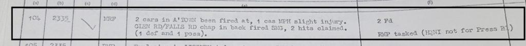 MRF shooting 7th May 1972