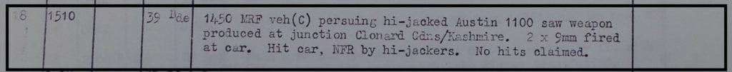 MRF shooting 9th May 1972