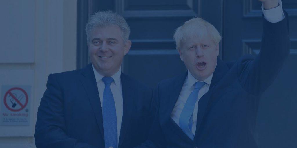 BritGov Brandon Lewis and Boris Johnson