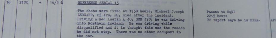 39 Brigade Operations Log, May 1973