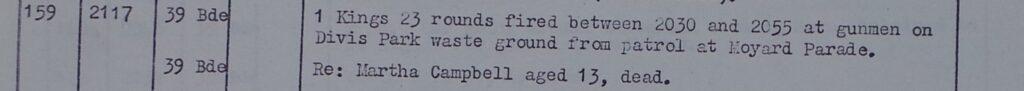 Martha Campbell Murder - 1 Kings fired 23 HV rounds