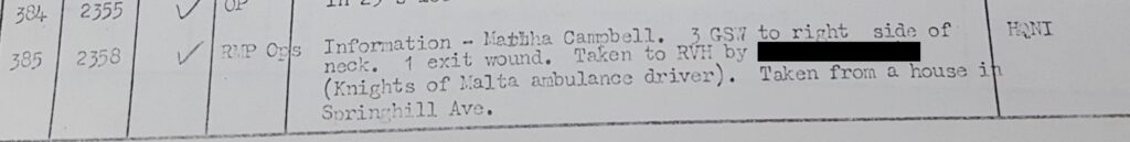Martha Campbell Murder - Royal Military Police report information