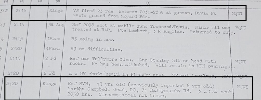 Martha Campbell Murder - V2 1 Kings slightly amend timing and location