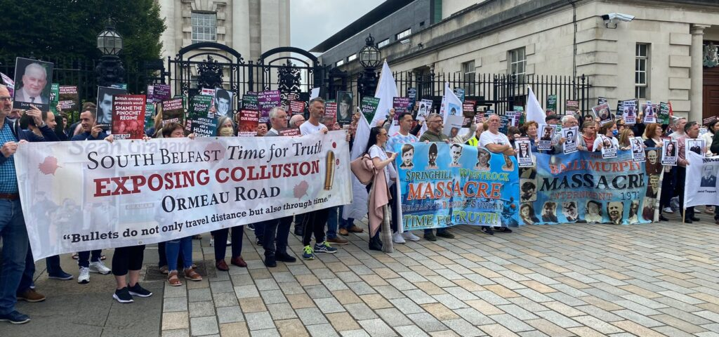 Time for Truth National Day of Action Belfast Banner