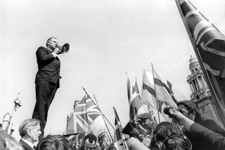 William Craig speaking at a demonstration