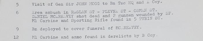 Daniel McAreavey killed in a British Army area ambush